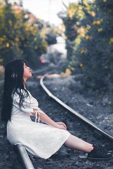Girl, Sit, Sad, Train Tracks, Close Your Eyes