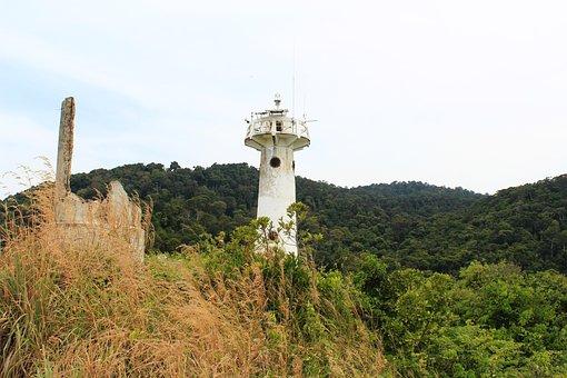 Lighthouse, Sea, Clouds, Ocean, Nature, Light, Coast