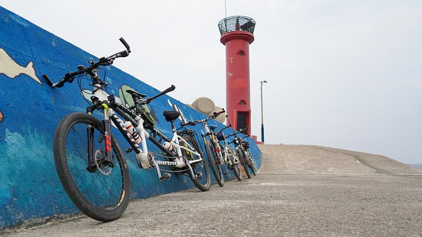 Bike, Lighthouse, Holiday, Coast, Tandem Bike, 2 Bike