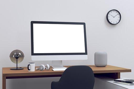 Mac, Desk, Office, Computer, Desktop, Technology