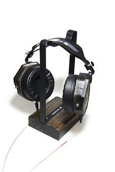 Headphones, Stand, Music, Equipment, Electronics