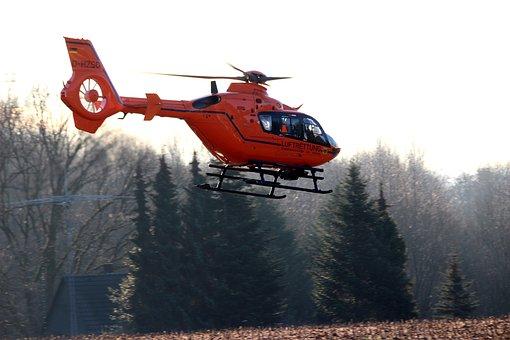 Helicopter, Hubschrauber, Einsatz, Rescue, Flying
