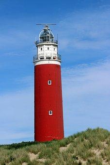Lighthouse, Leuchtturm, Texel, Netherlands, Beach