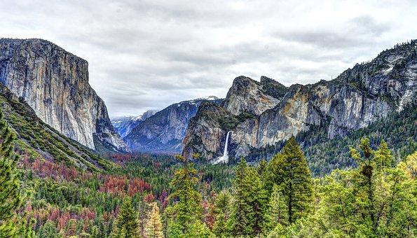 Yosemite, Waterfall, National Parks, Wilderness