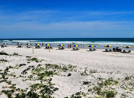 Daytona Beach, Florida, Ocean, Seascape, People, Beach