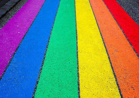Rainbow, Pride Flag, Road, Pavement, Rainbow Flag, Lgbt