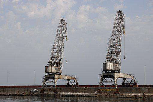 Croatia, Rijeka, Harbor, Crane, Transport, Shipping