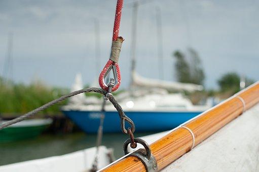 Sail, Boom, Thimble, Halyard, Sailboat, Ropes