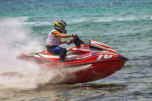 Jet Ski, Sport, Sea, Action, Speed, Race, Spray