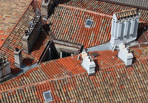 Croatia, Rijeka, Roof, Chimney, Tile, Street Scene