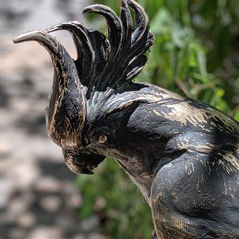 Statue, Bird, Bird Statue, Bird Art, Cockatoo, Parrot