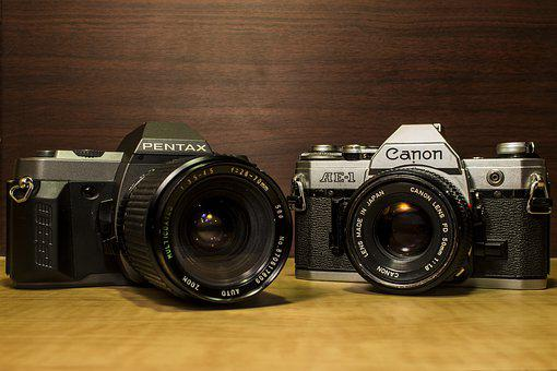 Camera, Photo, Canon, Ae-1, Photography, Vintage, Old