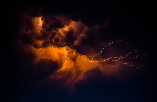Lightning, Sky, Cloud, Thunderstorm, Weather, Storm