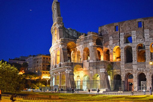 Colosseum, Rome At Night, City At Night, Italy