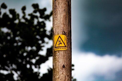 Danger Of Death, Sign, Dark Sky, Warning