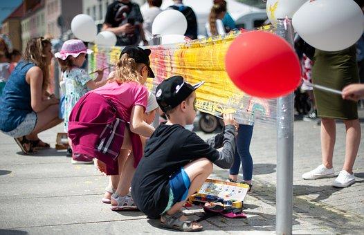 Children, Painting, Fun, Colorful, Child, Color, Paint