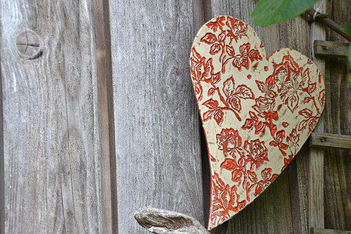 Heart, Wood, Red, Love, Decoration, Background