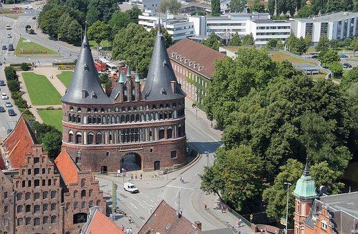 Holsten Gate, Lübeck, City Gate, Historic Center