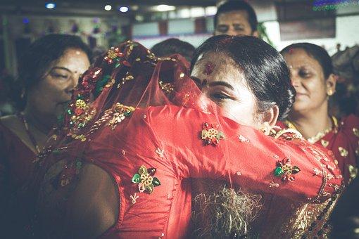 Farewell, Wedding, Hindu Culture, Sad, Bride, Nepal