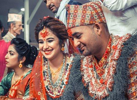 Wedding, Hindu Culture, Marriage, Nepal, Bride, Groom