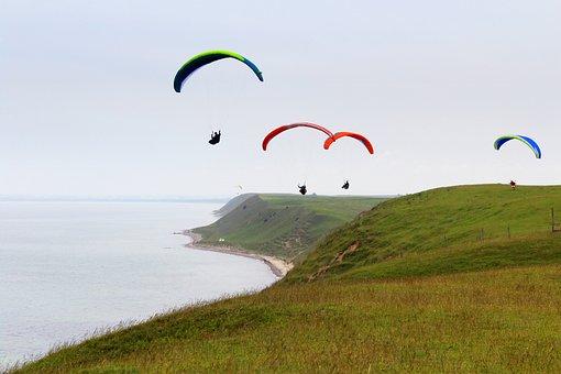 Paragliding, Paragliders, Parachutes, Parachute, Sky