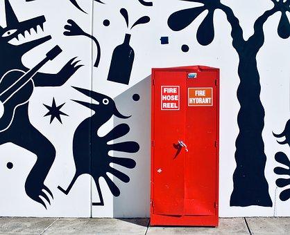 Red Box, White Black, Wall, Melbourne, Preston, Red