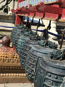 Bells, Temple, Buddhism, Religion, Bell, Culture
