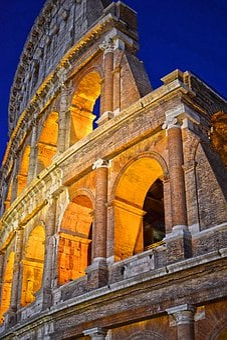 Colosseum, Coliseum, Rome At Night, Amphitheatre