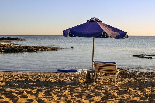 Beach, Sandy, Afternoon, Sea, Sand, Summer, Calm