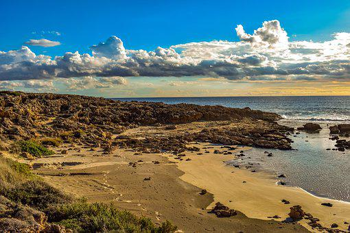 Beach, Coast, Sea, Nature, Sand, Sky, Clouds, Shore