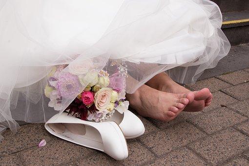 Wedding, Feet, Shoes, Bride, Shoe, Dress, Wedding Shoes