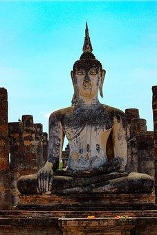 Sukhothai, Thailand, Temple, Historical, Buddha