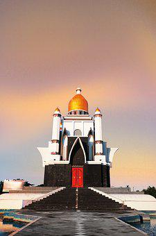 Islam, The Mosque, The Dome, Culture, Building, The Sky