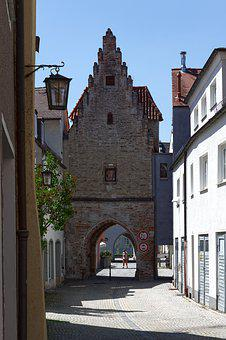 Tower, Town Fortifications, Houses, Architecture