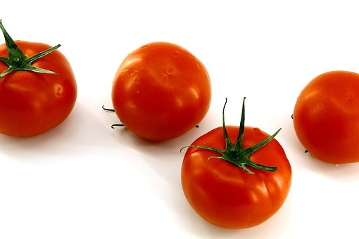 White Background, Red Tomatoes, Fresh, Vegetables
