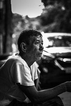 Man, Sad, Old, Bored, Afternoon, Vietnam