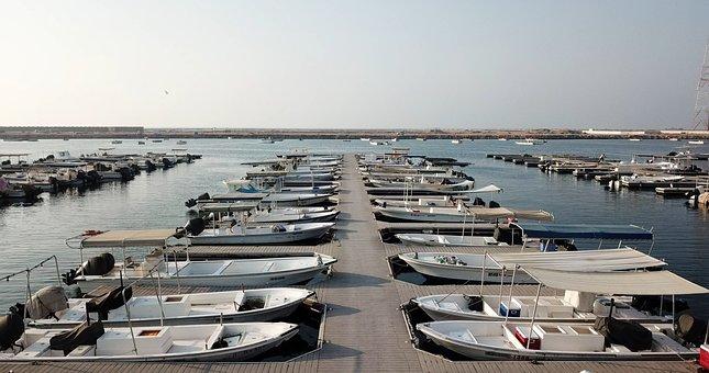 Boats, Sea, Rak, Uae, Sunset, Ocean, Sky, Water