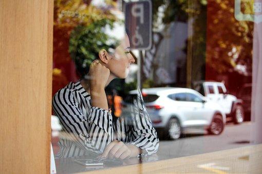 Reflection, Coffeeshop, Restaurant, Window