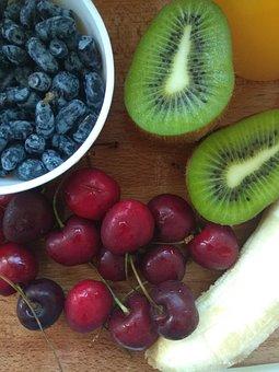 Fruit, Kiwi, Berry, Banana, Vitamins, Healthy, Fresh