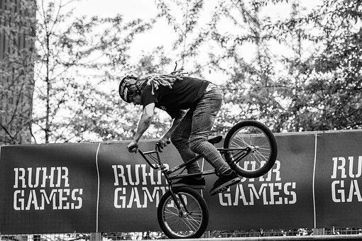 Sport, Cycling, Bmx, Bike, Wheel, Biker, Jump