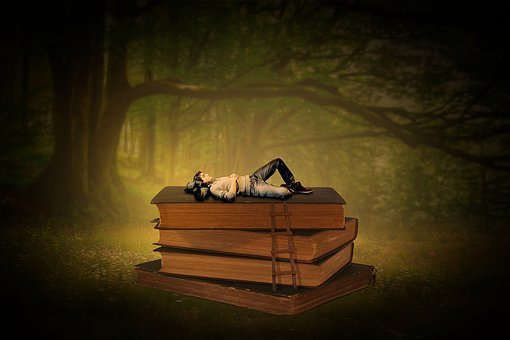 Books, Literature, Knowledge, Paper, Read, Head, Man