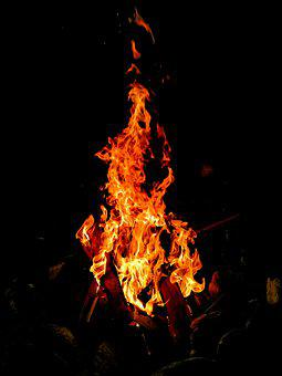 Fire, Campfire, Flame, Burn, Hot, Heat, Wood, Fireplace