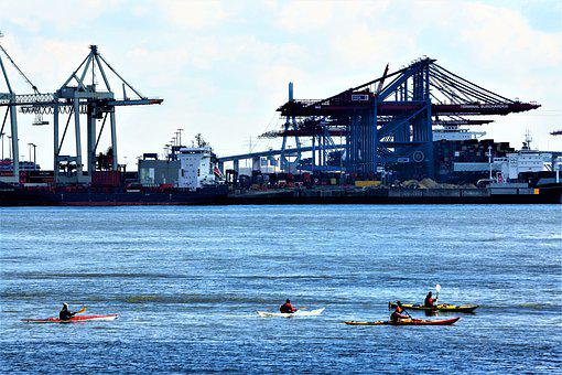 Kayak, Cruise, Elbe, Hh, Hamburgensien, Canoeing