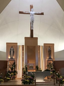 Catholic Church, Cross, Altar, Jesus, Christian