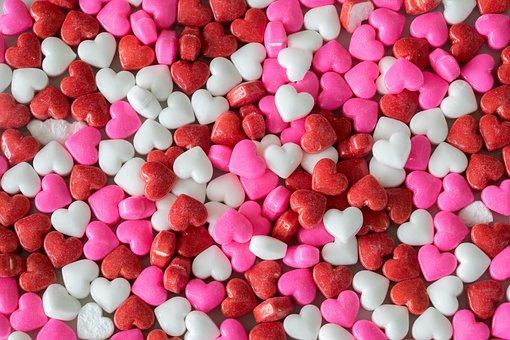 Confetti, Hearts, Birthday, Heart, Romantic, Decorative