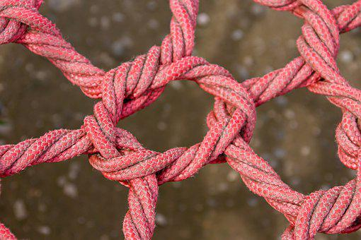 Ropes, Connection, Knot, Link, Red, Knitting, Dew