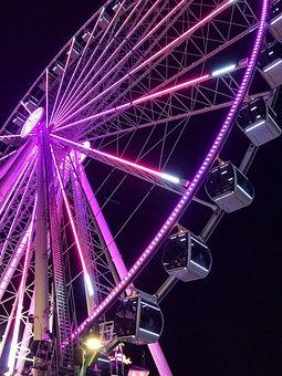 Sky Wheel, Ferris Wheel, Fair, Skyline, Tourism