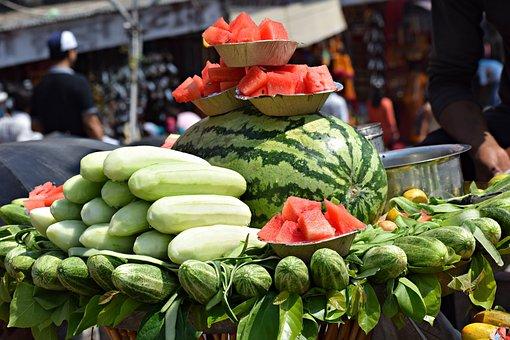Fruits, Watermelon, Summer, Food, Healthy, Red, Fresh