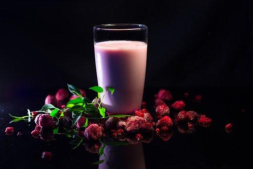 Raspberry, Berries, Milkshake, Drink, Smoothie, Milk