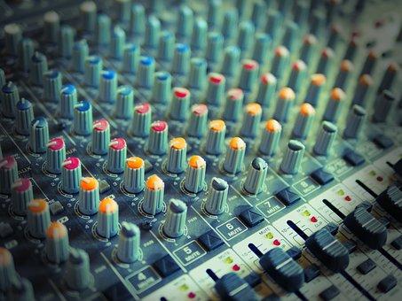 Mixer Console, Music, Radio, Mixer, Audio, Sound